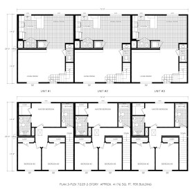 modular townhome floor plan